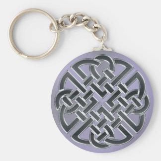 Schwärzen Sie 'düsteres Lavendel-Metallkeltischen Schlüsselanhänger