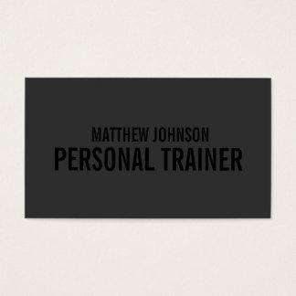 Schwärzen Sie heraus Visitenkarten des Trainer- 