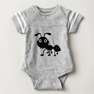 Schwarzer Ameisen-Cartoon Baby Strampler