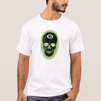 Schwarzer Ball des Schädel-8 T-Shirt