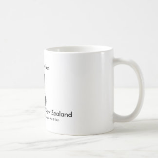 Schwarzer Band-Tag Neuseeland Kaffeetasse