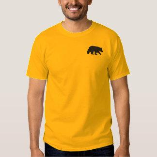 Schwarzer Bär Besticktes T-Shirt