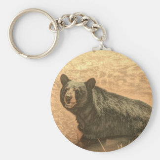 schwarzer Bär der Outdoorsmanwildnisflußwild Schlüsselanhänger