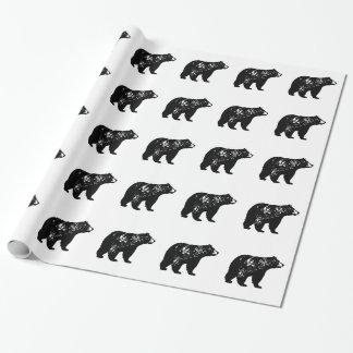 Schwarzer Bär Geschenkpapier