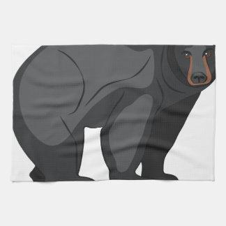 Schwarzer Bär Handtuch