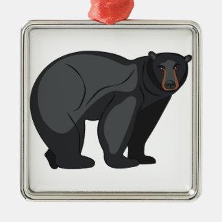 Schwarzer Bär Silbernes Ornament