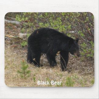 Schwarzer Bär #Wildlife Anhänger Mousepad