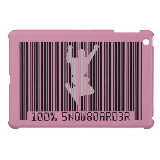 Schwarzer Barcode 100% des SNOWBOARDERS 2 iPad Mini Hülle