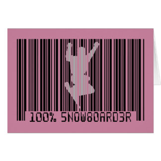 Schwarzer Barcode 100% des SNOWBOARDERS 2 Karte