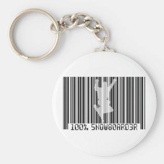 Schwarzer Barcode 100% des SNOWBOARDERS 2 Schlüsselanhänger