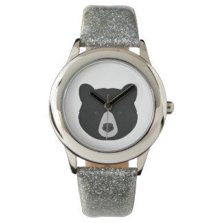 Schwarzer Bärn-Gesicht Armbanduhr