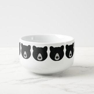 Schwarzer Bärn-Gesicht Große Suppentasse
