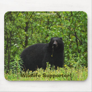 Schwarzer Bärn-Tier-Entwurf für Tier-Liebhaber Mauspad