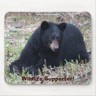 Schwarzer Bärn-Tier-Entwurf für Tier-Liebhaber Mousepads