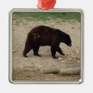 Schwarzer Bärn-Verzierung Silbernes Ornament
