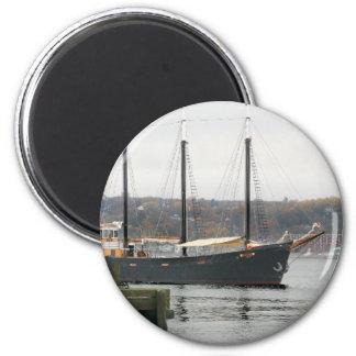 Schwarzer Bartmagnet Runder Magnet 5,7 Cm