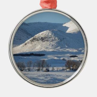 Schwarzer Berg, Schottland 8161 Silbernes Ornament
