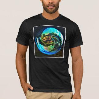 Schwarzer Blasen-Mode-T - Shirt