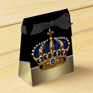 Schwarzer blauer Goldkronprinz Babyparty Geschenkkartons