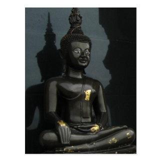 Schwarzer Buddha… Thailand Postkarte