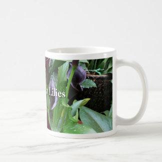 Schwarzer Calla-Lilien Kaffeetasse