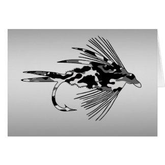 Schwarzer Camouflage-Fliegen-Fischenköder Karte
