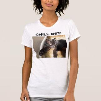 SCHWARZER CAT, KÜHLEN HERAUS! T-Stück Hemden