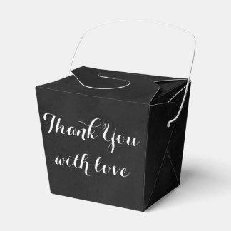 Schwarzer Chalkboadrd danken Ihnen Liebe-Wedding Geschenkschachtel