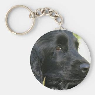 Schwarzer Cocker spaniel-Hund Keychain Schlüsselanhänger