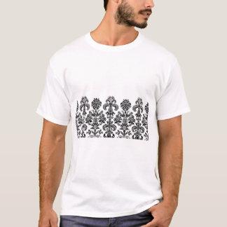 Schwarzer Damast-Hintergrund für die DIY Braut T-Shirt