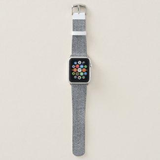 Schwarzer Denim-Druck Apple Watch Armband