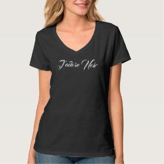 Schwarzer Designer J'adore Noir mit T-Shirt
