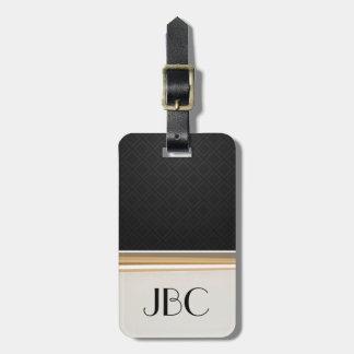 Schwarzer Diamant-Fliese mit einem Band versehenes Kofferanhänger