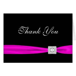 Schwarzer Diamant-Pink-Fuchsie danken Ihnen Karten