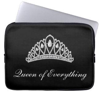 Schwarzer Diamant-Tiara-Königin von alles Laptop Laptop Computer Schutzhüllen