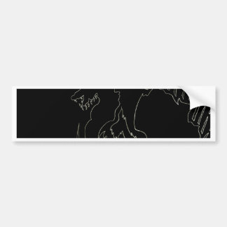 Schwarzer Drache-Entwurf durch cricketdiane Autoaufkleber