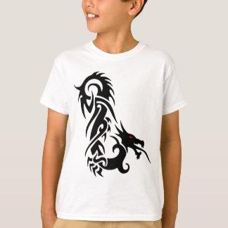 Schwarzer Drache-Tätowierungs-Entwurf T-Shirt