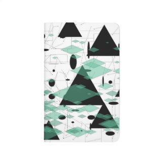 Schwarzer Dreieck Schwarzpfeil Grün-Diamant Taschennotizbuch