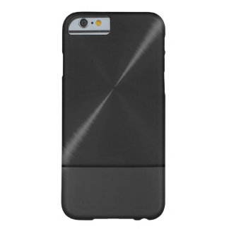 Schwarzer Edelstahl metallisch Barely There iPhone 6 Hülle