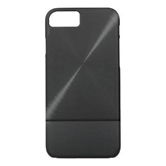 Schwarzer Edelstahl metallisch iPhone 7 Hülle