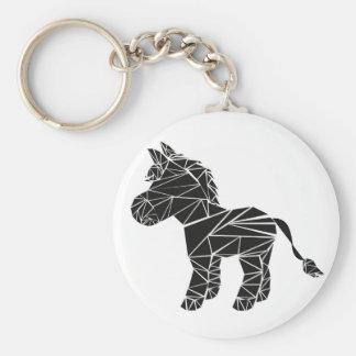 Schwarzer Esel Schlüsselanhänger