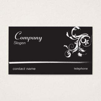 Schwarzer extravaganter Wirbel Visitenkarte
