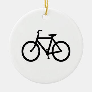 Schwarzer Fahrrad-Weg Keramik Ornament