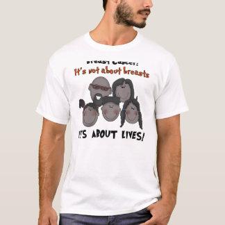 Schwarzer Familien-Brustkrebs T-Shirt