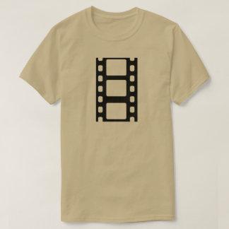 Schwarzer Film-Streifen T-Shirt