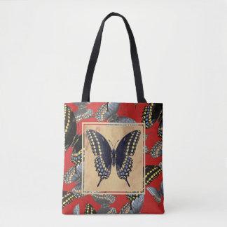 Schwarzer Frack-Schmetterling Tasche