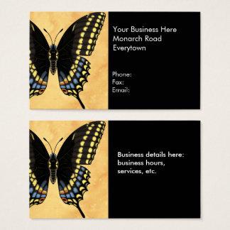 Schwarzer Frack-Schmetterling Visitenkarte