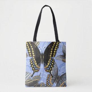 Schwarzer Frack-Schmetterlings-Wirbel Tasche