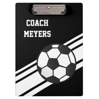 Schwarzer Fußball-Trainer-personalisiertes