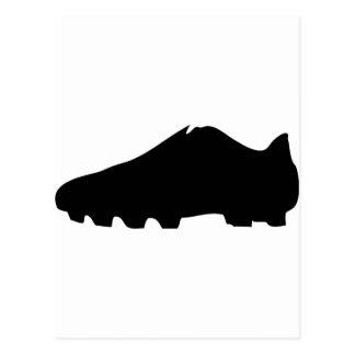 schwarzer Fußballschuh Postkarte